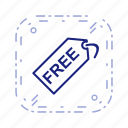 free, offer, tag icon