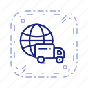 delivery, global delivery, shipping icon