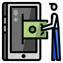 banking, mobile, online, payment icon
