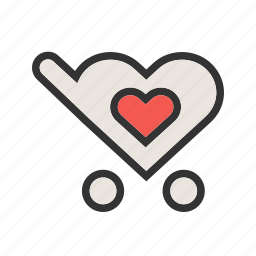 add, basket, business, carrier, ecommerce, favorite cart, trolley icon