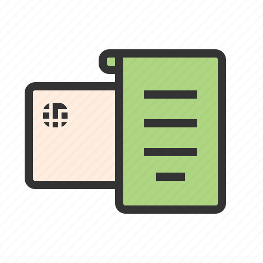 bill, billing, invoice, list, note, paper, receipt icon