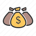 bag, cash, dollar, ecommerce, money, moneybag, sack icon