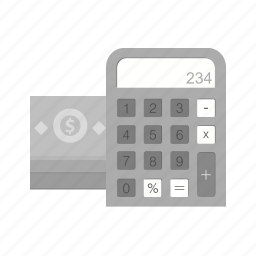 bill, calculation, calculator, dollar, mathematics, scientific icon