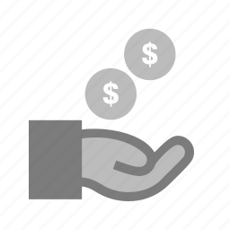 cash, cents, dollar, exchange, funding, hand, money icon