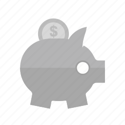 banking, coin, dollar, money, save, saving, savings icon