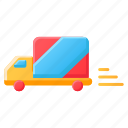 delivery, delivery truck, e-commerce, service, shipping, vehicle icon