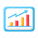 business, trend, growth, graph, data analysis, marketing, statistic icon