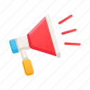 advertising, announce, marketing, megaphone, offer, promotion, sale icon