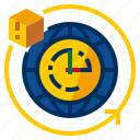 clock, hours, service, time icon