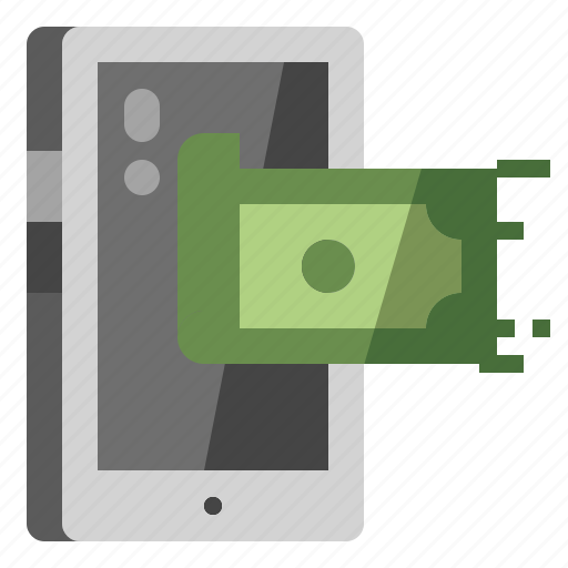 banking, mobile, payment, phone, technology icon