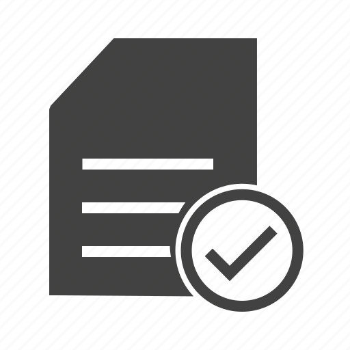 checklist, document, items, list, mark, task, tick icon