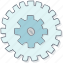 alinement, cogwheel, drawn, hand, installation, setting, tune-up icon