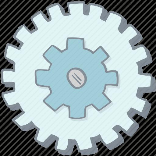 alinement, cogwheel, drawn, hand, installation, setting, tune-up icon