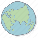 drawn, earth, globe, hand, new, planet, sphere icon