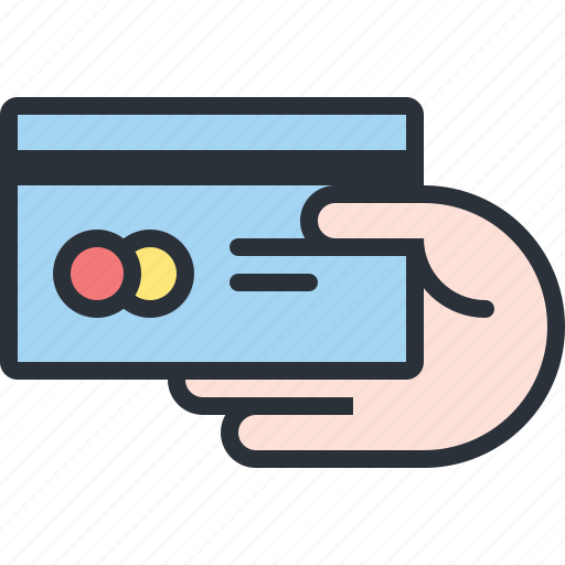 card, credit, ecommerce, hand, payment, shopping icon