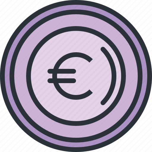 currency, ecommerce, euro, money, shopping icon