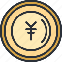 currency, ecommerce, japanese, money, shopping, yen icon