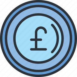 currency, ecommerce, money, pound, shopping icon
