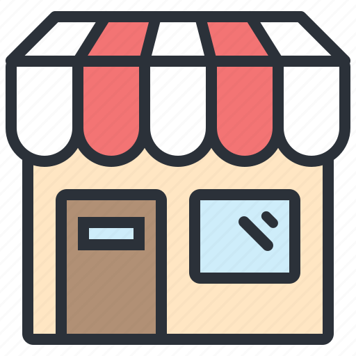 building, construction, ecommerce, shop, shopping, store icon