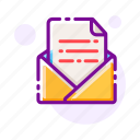document, envelope, letter, mail, mailbox, message, receive