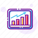 business, data analysis, graph, growth, marketing, statistic, trend icon