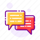 chat box, chatting, live chat, message, sms, texting icon