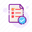 checklist, clipboard, information, list, order, report, schedule icon