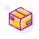 box, cardboard box, delivery, package, packing, relocation, transportation icon
