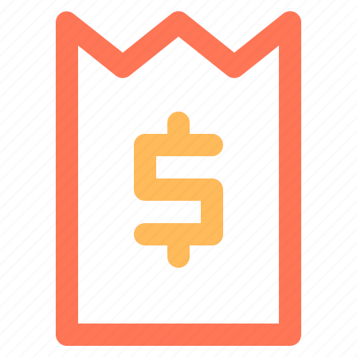 bill, check, dollar, ecommerce, invoice icon