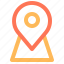 ecommerce, location, map, pin icon