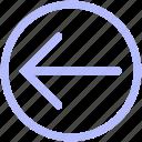 arrow, back, circle, mix, set icon