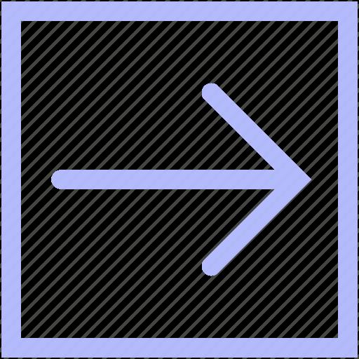 arrow, box, forward, mix, set icon
