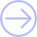 arrow, circle, forward, mix, set icon