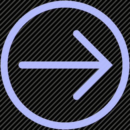 arrow, circle, forward, mix, set icon