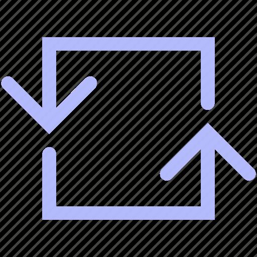 arrow, back, mix, navigation, return, set icon