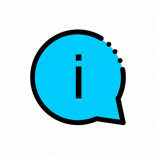 bubble, data, help, info, information icon