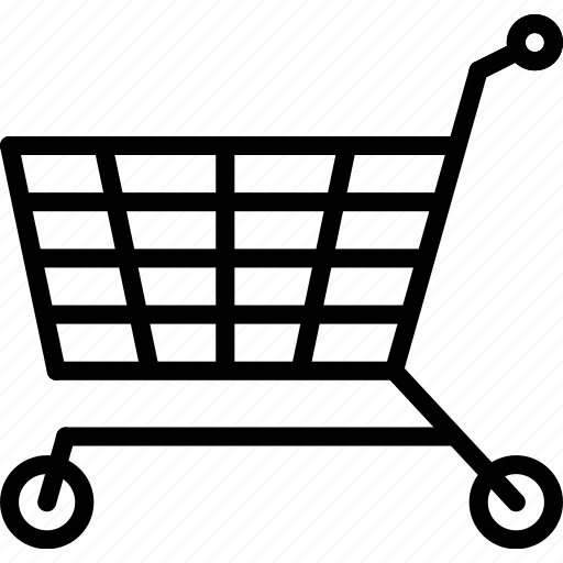 e-commerce, outline, shopping, trolley icon