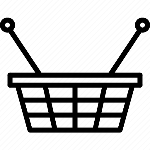 basket, e-commerce, outline, shopping icon