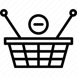 basket, e-commerce, from, outline, remove, shopping icon