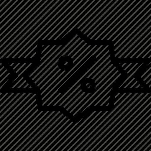 e-commerce, label, outline, sale icon