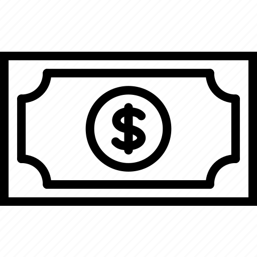 dollars, e-commerce, money, outline icon