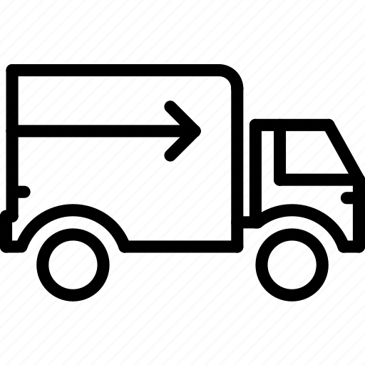 delivery, e-commerce, outline, standard, truck icon
