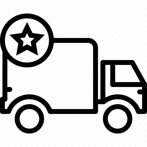 delivery, e-commerce, outline, special, truck icon
