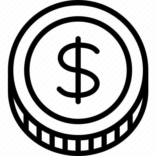 coin, dollar, e-commerce, outline icon