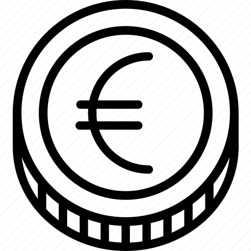 coin, e-commerce, euro, outline icon