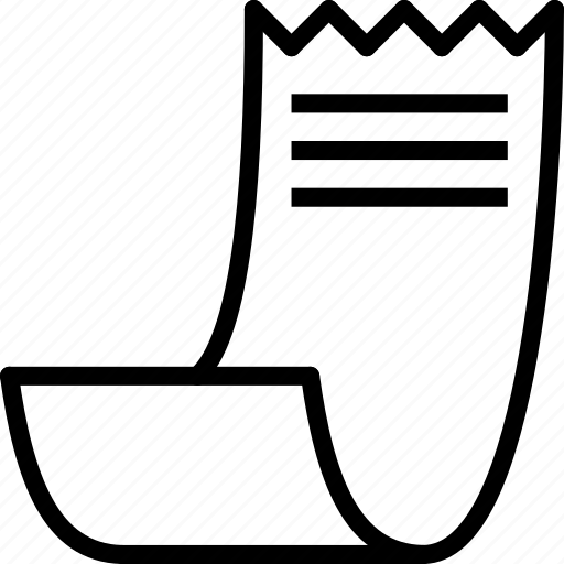e-commerce, outline, receipt icon