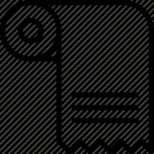 e-commerce, outline, receipt, roll icon