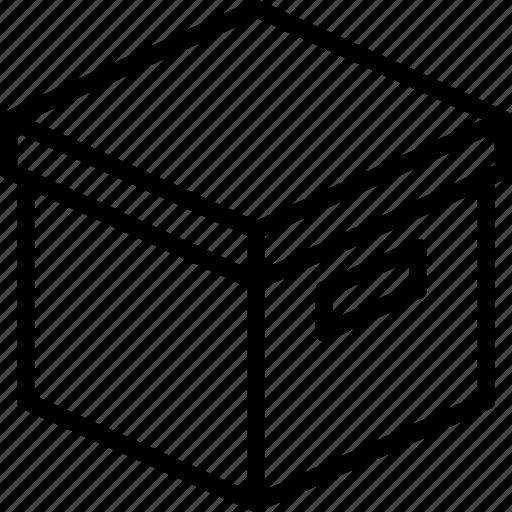 box, e-commerce, outline, parcel, storage icon