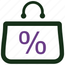 discount, sale, shopping icon