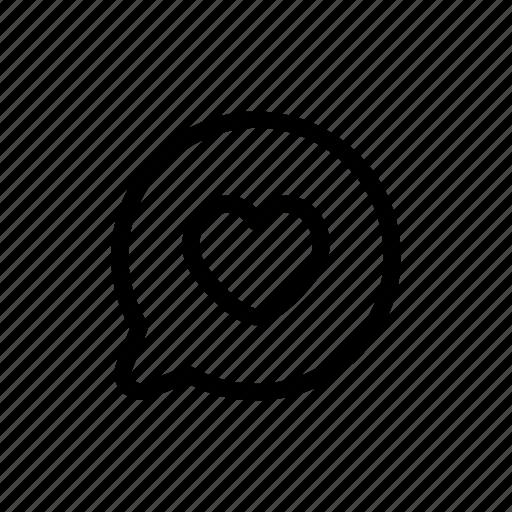 bubble, chat, favorite, favourite, love icon